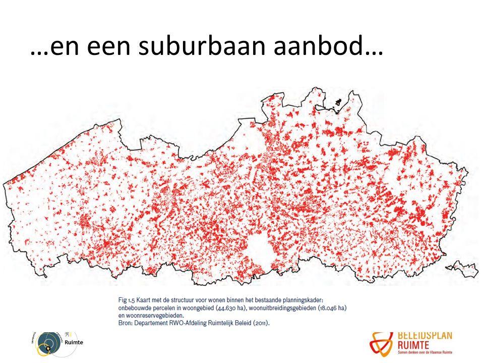 …en een suburbaan aanbod…