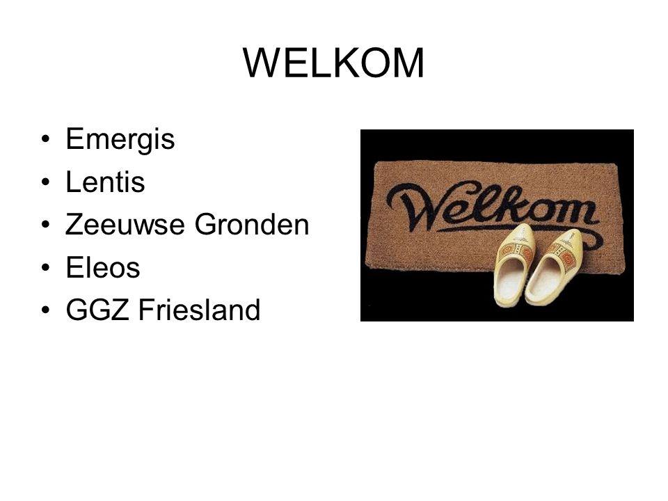 WELKOM Emergis Lentis Zeeuwse Gronden Eleos GGZ Friesland