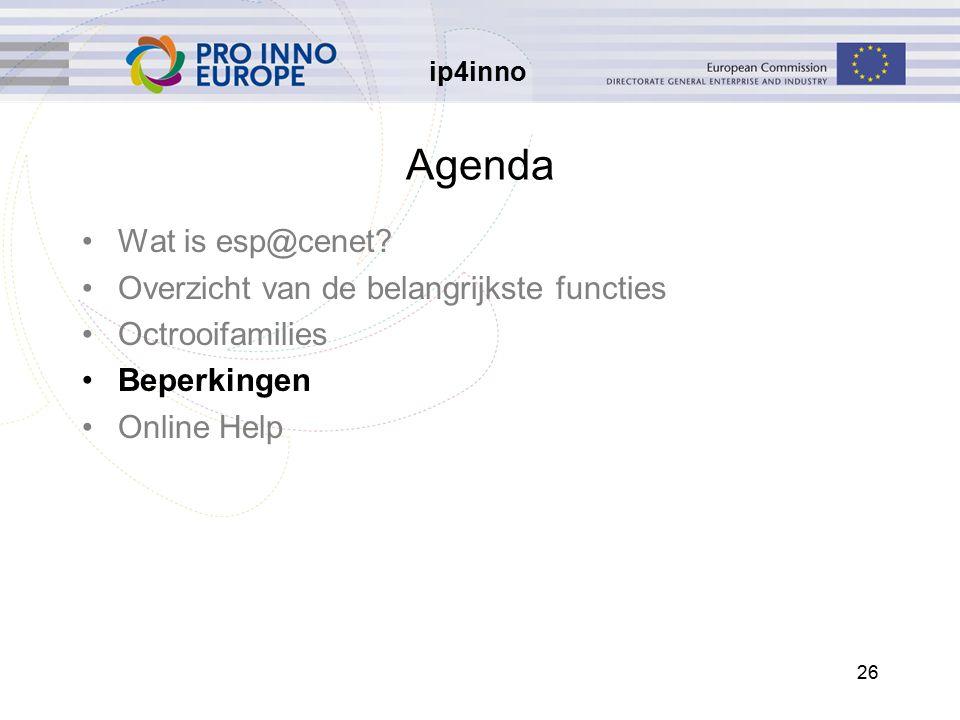 ip4inno 26 Agenda Wat is esp@cenet.