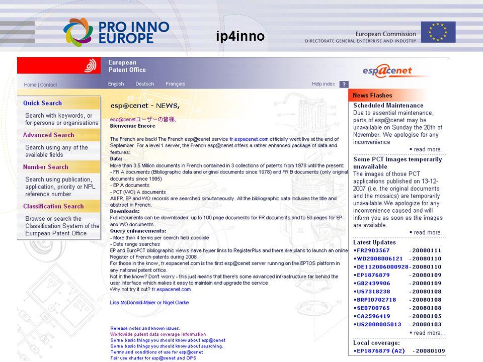 ip4inno 28 Beperkingen Niet mogelijk om binnen een datumbereik te zoeken Geen statistische analyse mogelijk Geen zoekhistorie