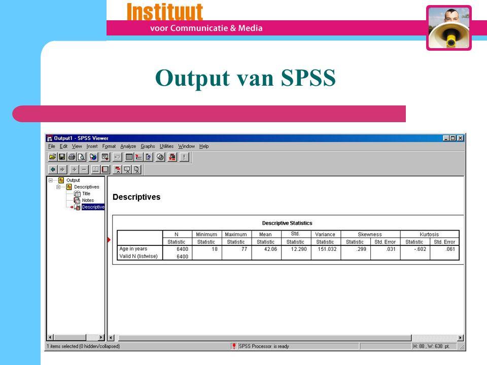 Output van SPSS