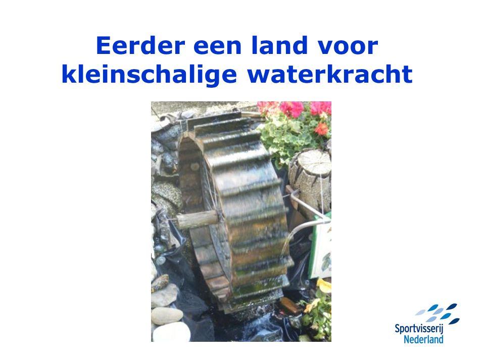 Eerder een land voor kleinschalige waterkracht