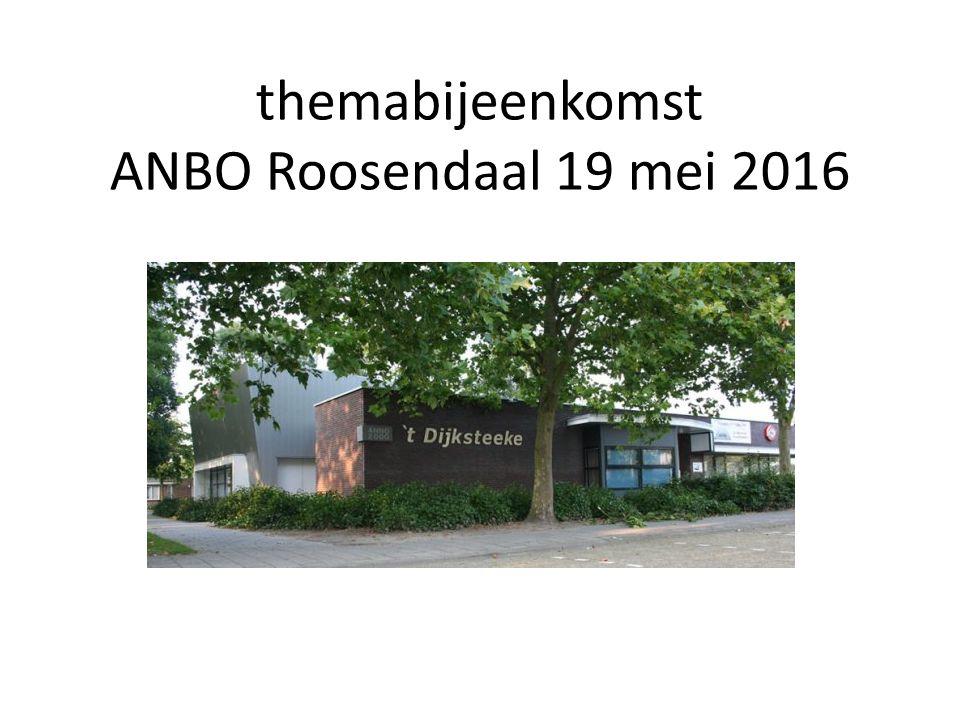 Het programma Thema Presentatie gegeven door Angela Schulz onderwerp : eenzaamheid ANBO stand van zaken nu & Presentatie activiteitenteam