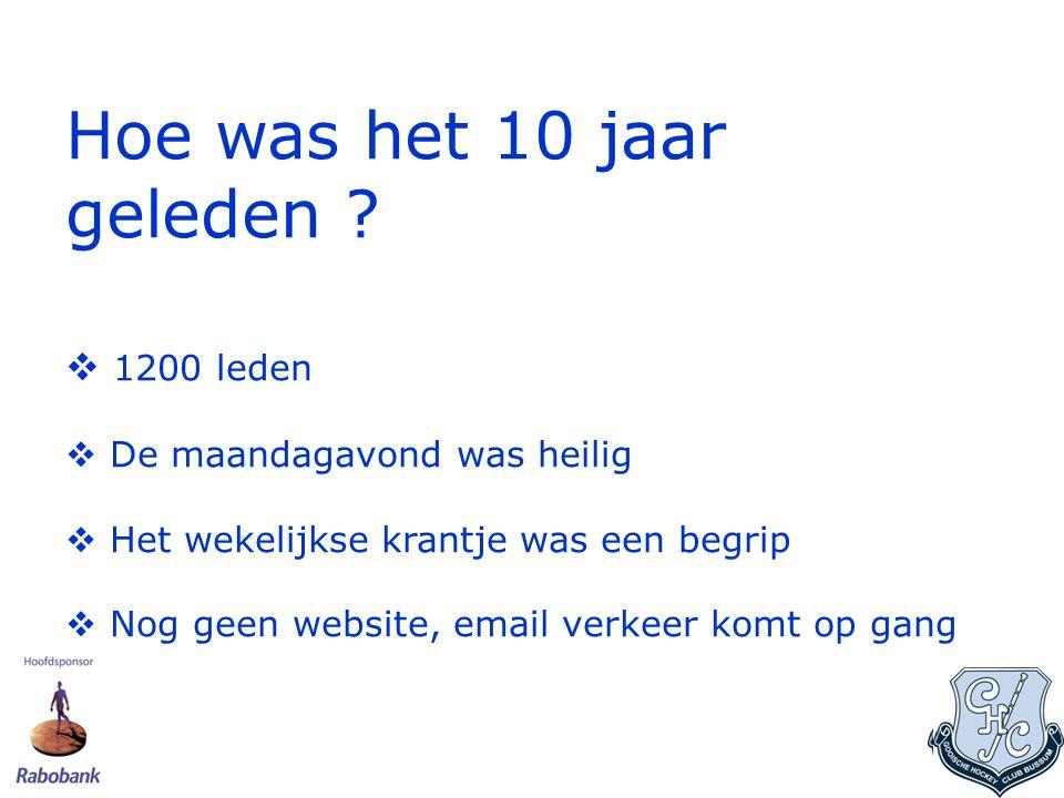De overgangsjaren In 2003 onze 1 e Website www.gooische.nl gelanceerd en de ledenadmin geautomatiseerd via E-Hockey.www.gooische.nl Website (Van Magnus 03 via Merrick 05-07 naar LISA in juni 2008).