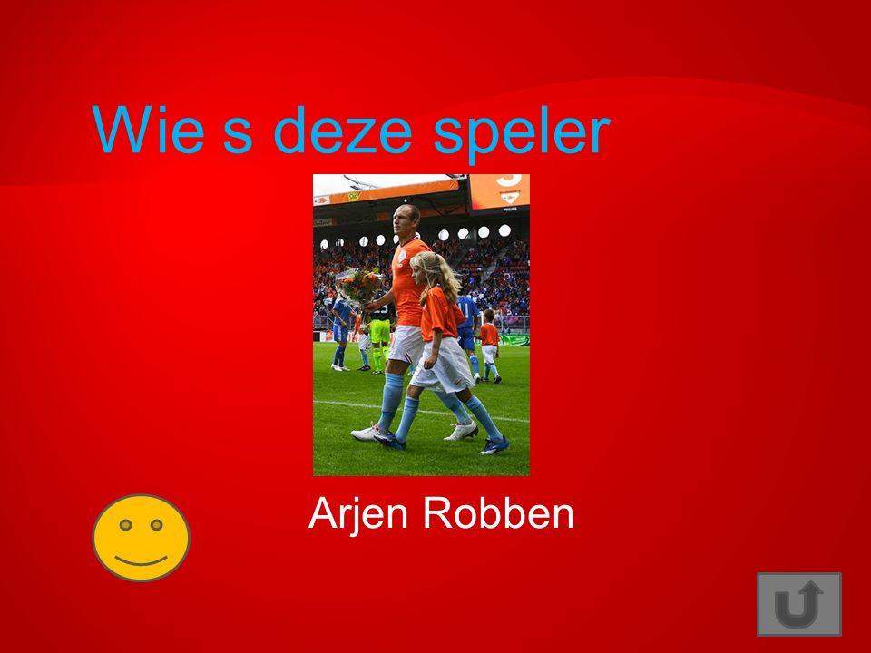 Wie is deze speler? Wesley Sneijder