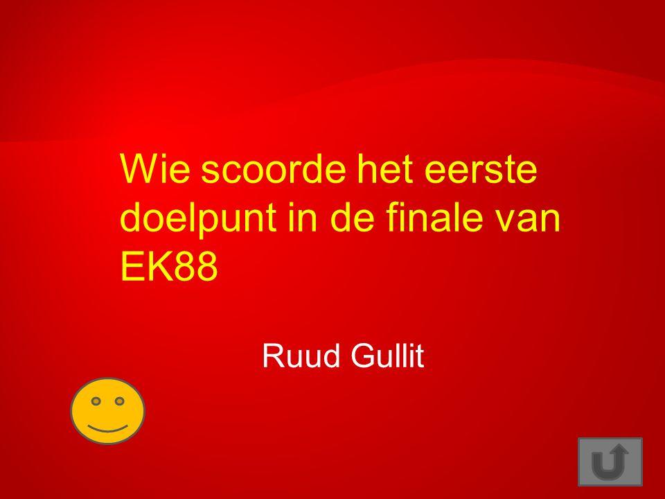 Wie scoorde het eerste doelpunt in de finale van EK88 Ruud Gullit