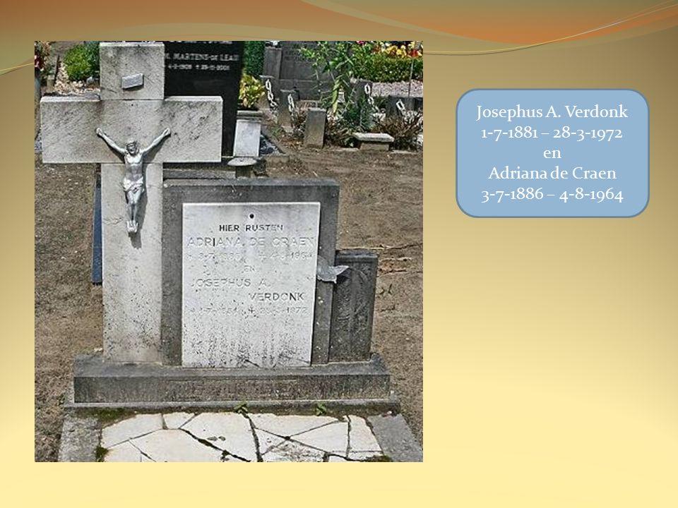 Josephus A. Verdonk 1-7-1881 – 28-3-1972 en Adriana de Craen 3-7-1886 – 4-8-1964