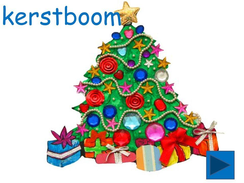 kerstboom begint met de letter k.Zie jij het woord kerstbooom.