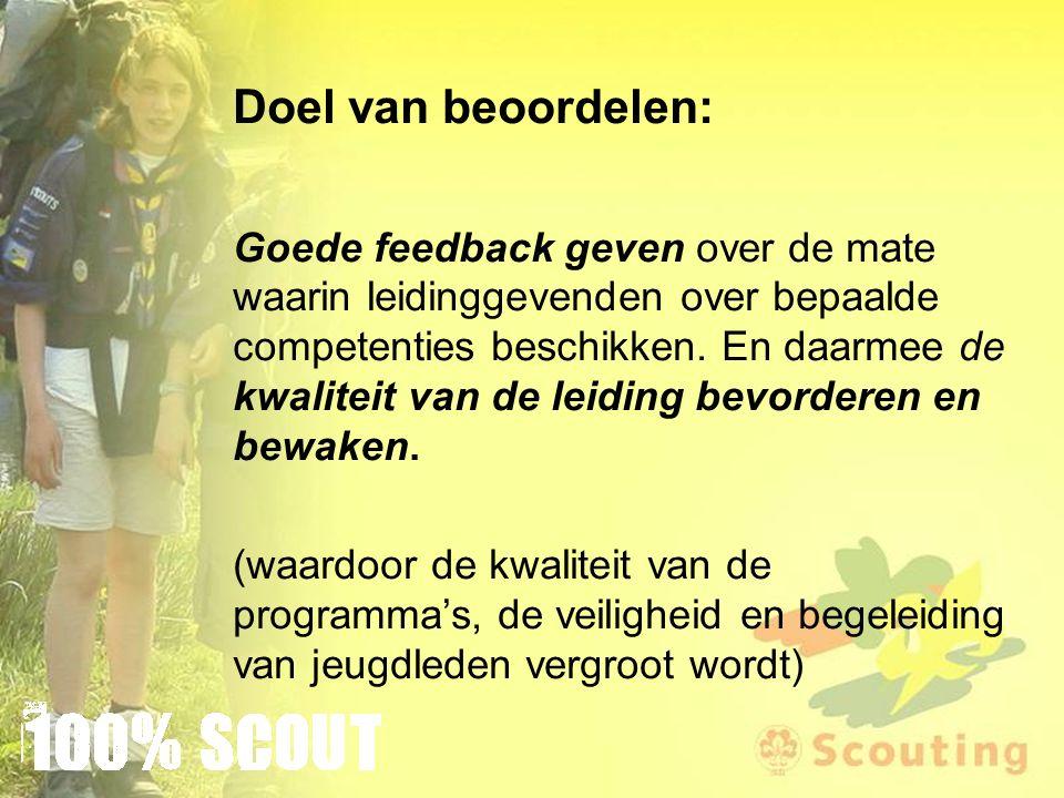 Doel van beoordelen: Goede feedback geven over de mate waarin leidinggevenden over bepaalde competenties beschikken.