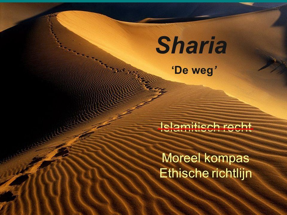 16 Sharia 'De weg' Islamitisch recht Moreel kompas Ethische richtlijn