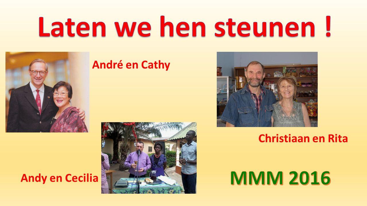 André en Cathy Andy en Cecilia Christiaan en Rita