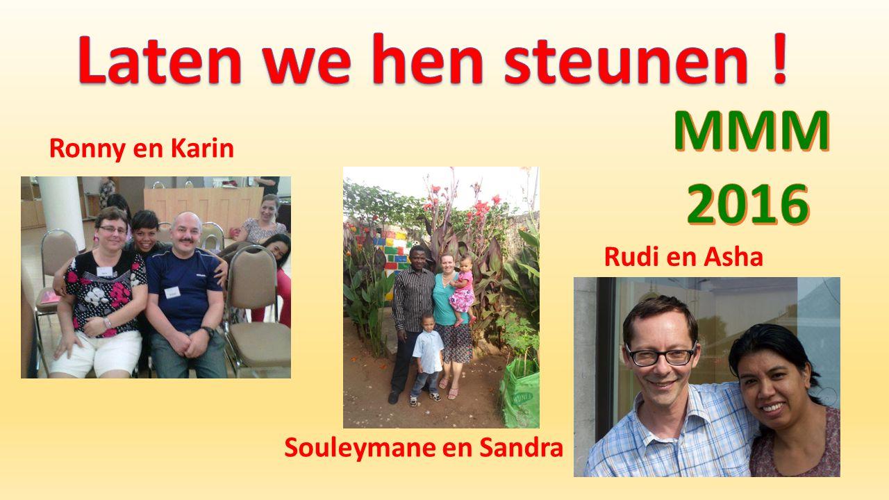 Ronny en Karin Souleymane en Sandra Rudi en Asha
