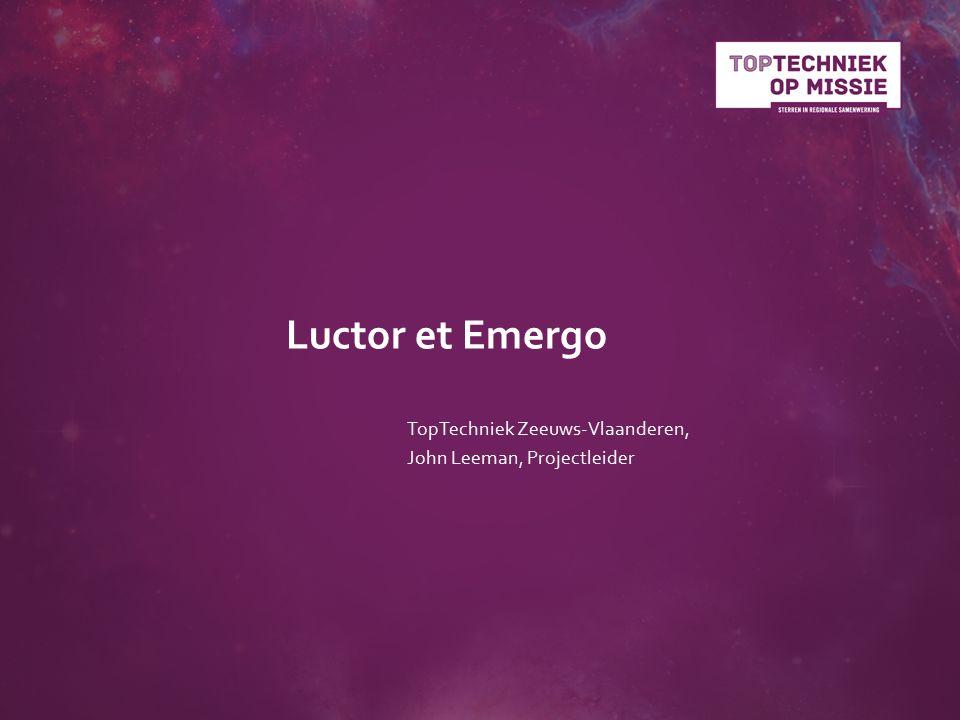Luctor et Emergo TopTechniek Zeeuws-Vlaanderen, John Leeman, Projectleider