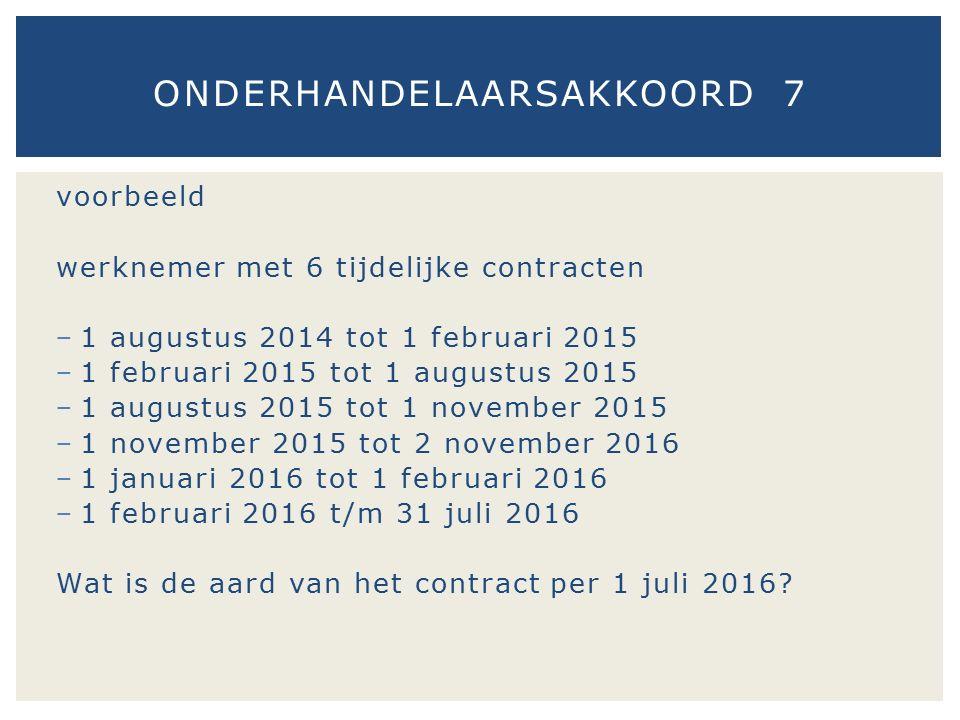 voorbeeld werknemer met 6 tijdelijke contracten − 1 augustus 2014 tot 1 februari 2015 − 1 februari 2015 tot 1 augustus 2015 − 1 augustus 2015 tot 1 no