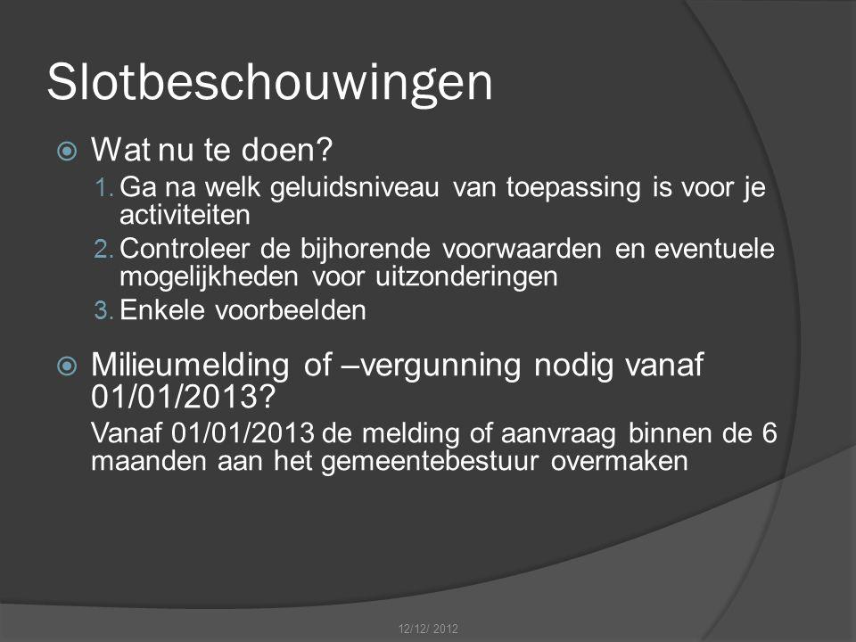 Slotbeschouwingen  Wat nu te doen.1.