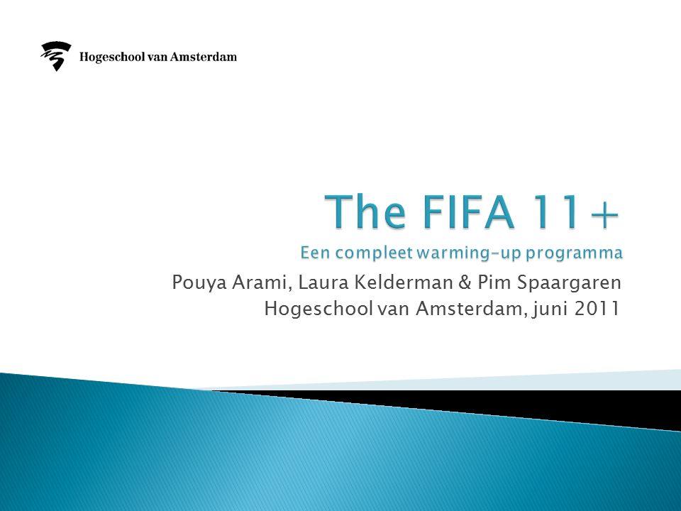 Pouya Arami, Laura Kelderman & Pim Spaargaren Hogeschool van Amsterdam, juni 2011