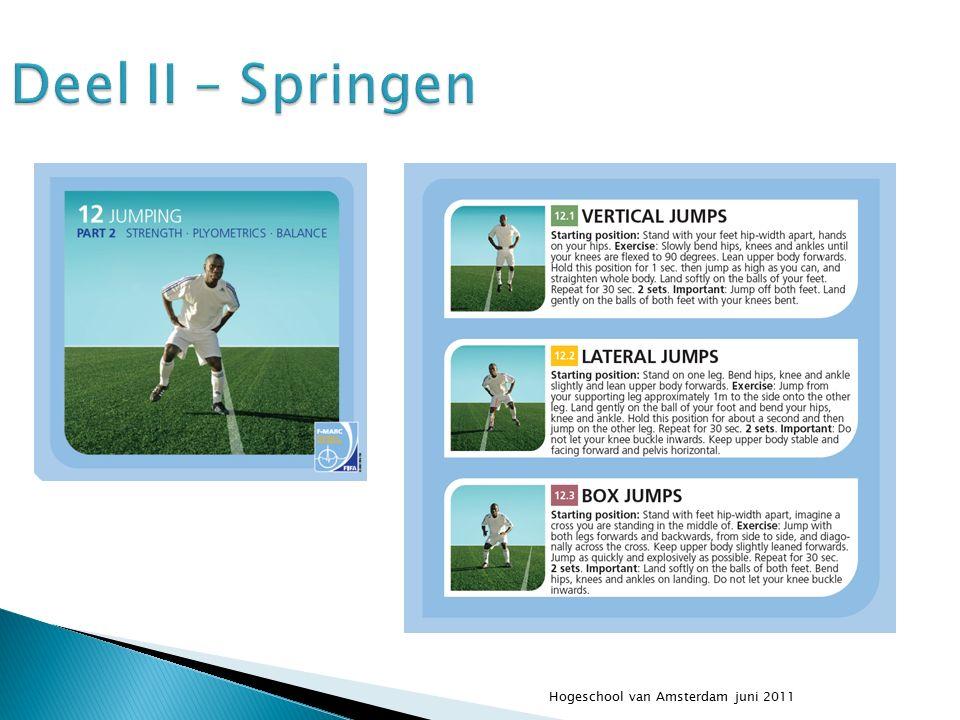 Hogeschool van Amsterdam juni 2011 Deel II – Springen
