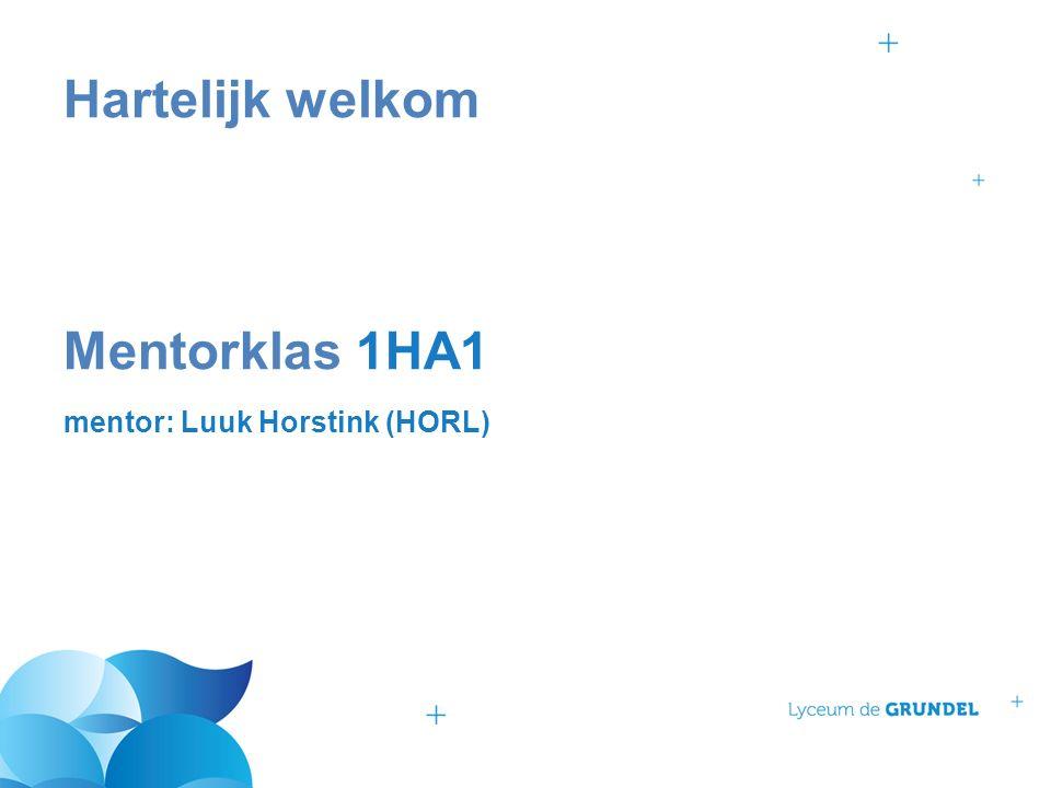 Hartelijk welkom Mentorklas 1HA1 mentor: Luuk Horstink (HORL)