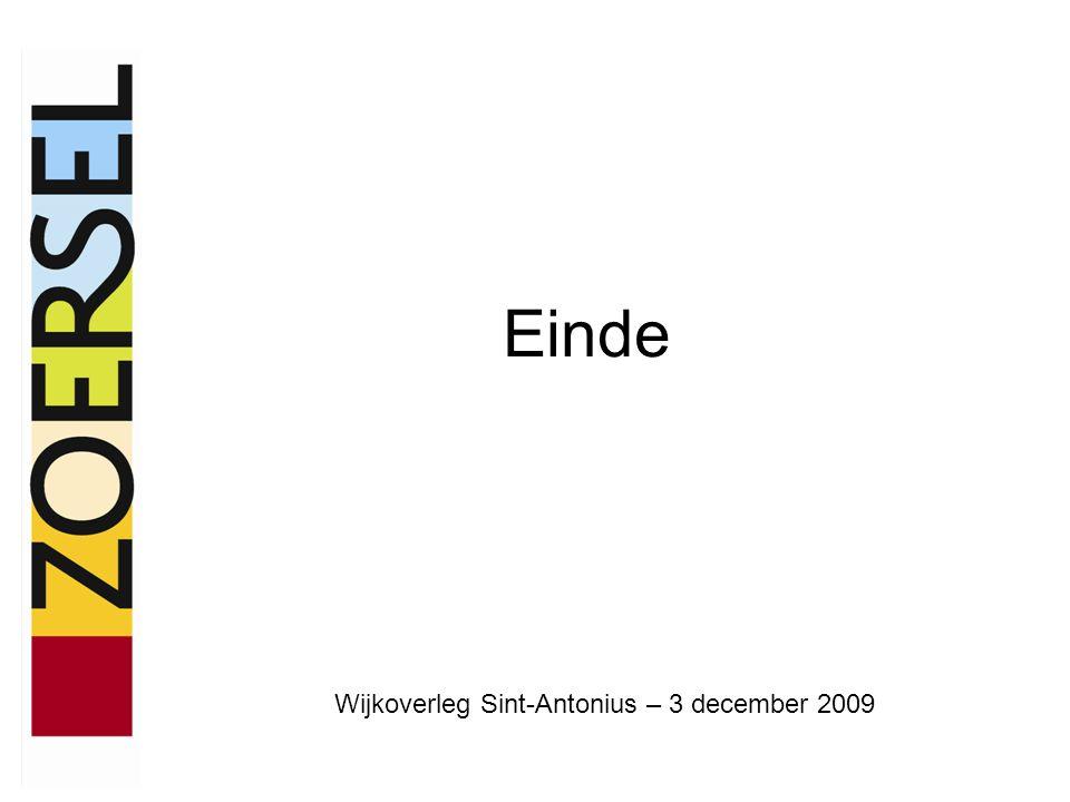 Einde Wijkoverleg Sint-Antonius – 3 december 2009