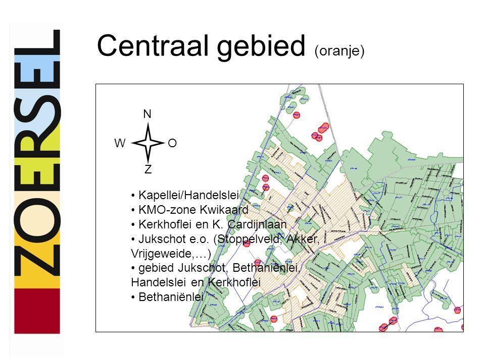 Collectief te saneren gebied (groen) N WO Z