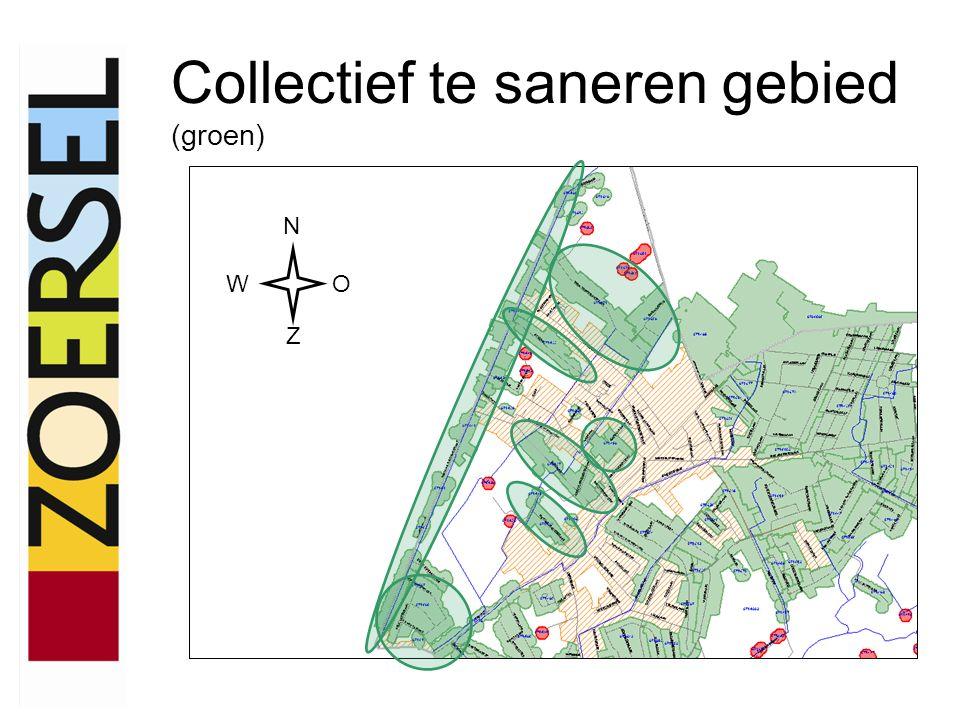 Individueel te saneren gebied (rood) N WO Z