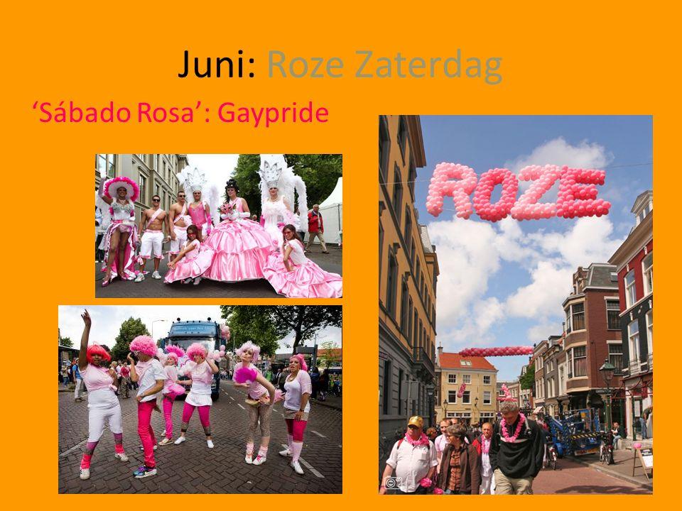Juni: Roze Zaterdag 'Sábado Rosa': Gaypride
