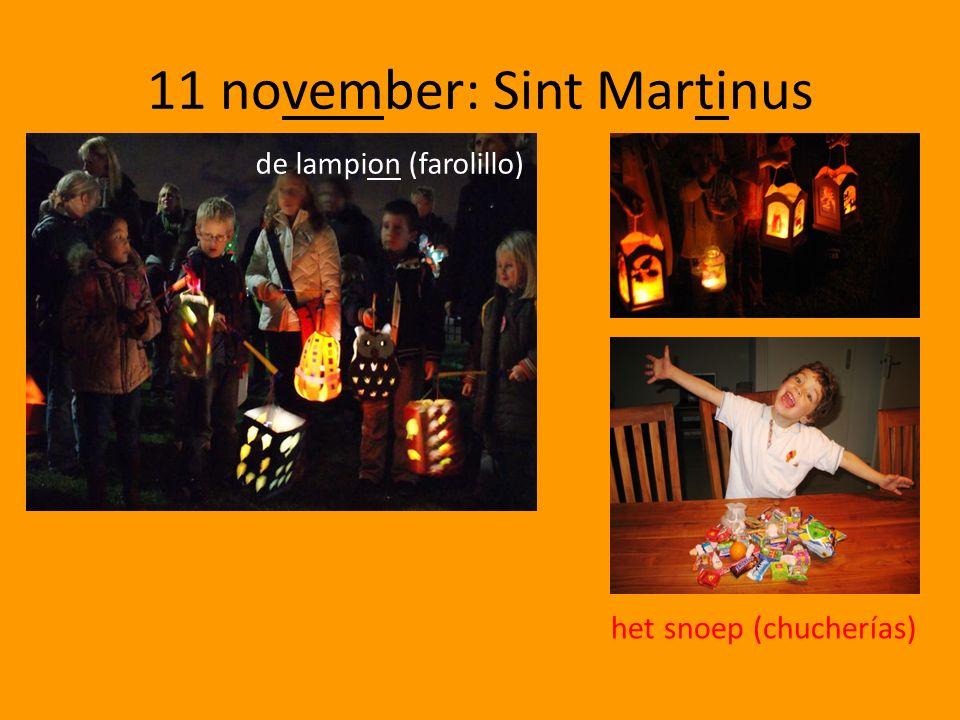 11 november: Sint Martinus het snoep (chucherías) de lampion (farolillo)