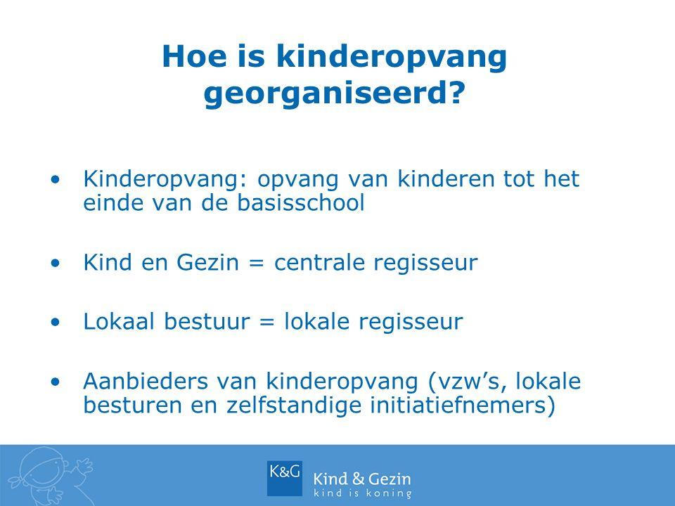 Hoe is kinderopvang georganiseerd.