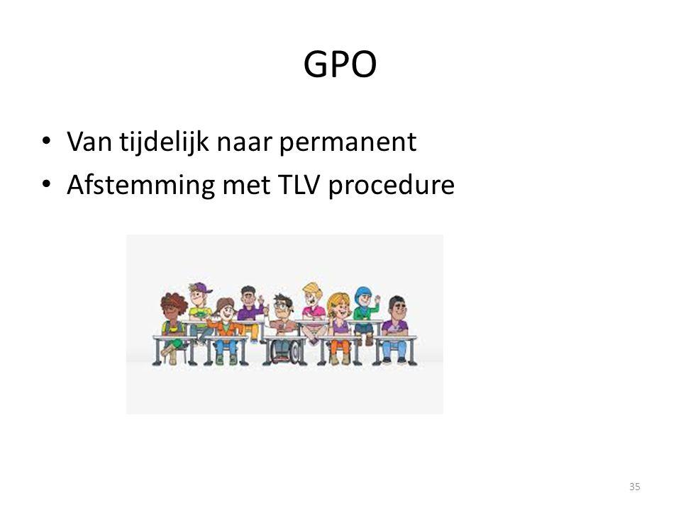 GPO Van tijdelijk naar permanent Afstemming met TLV procedure 35