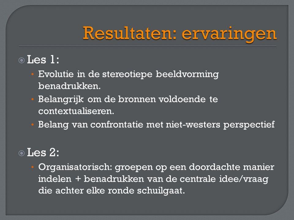  Les 1: Evolutie in de stereotiepe beeldvorming benadrukken.