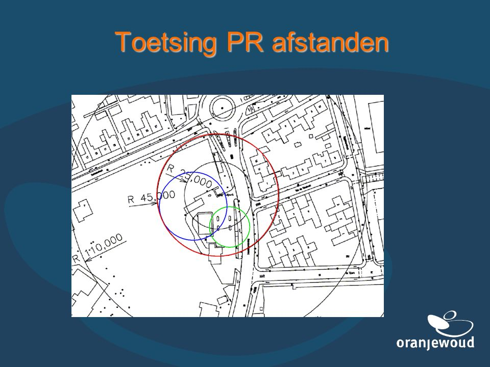 Toetsing PR afstanden
