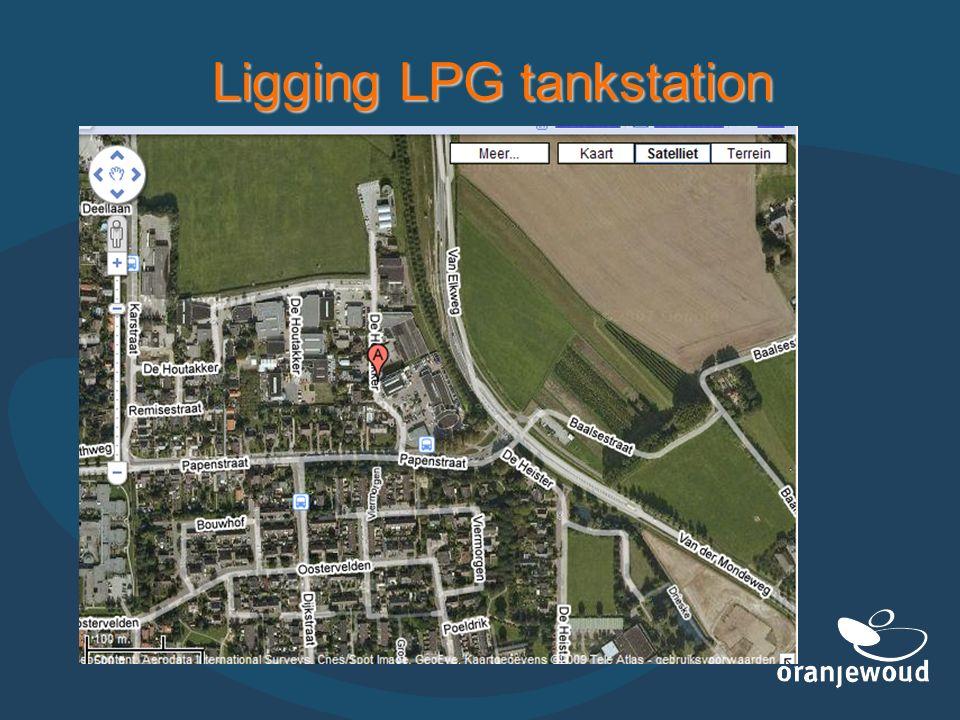 Ligging LPG tankstation