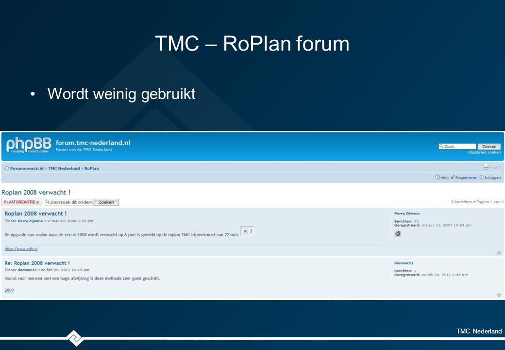 TMC Nederland LinkedIn – RoPlan gebruikersgroep Onafhankelijke open groep