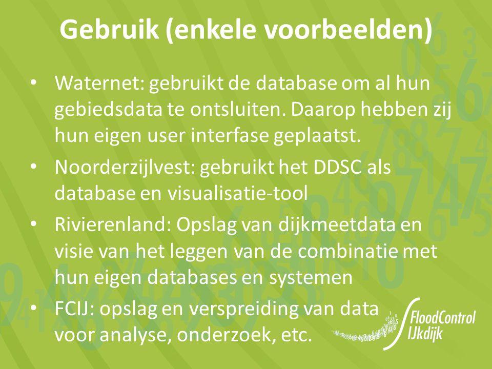 Waternet: gebruikt de database om al hun gebiedsdata te ontsluiten.