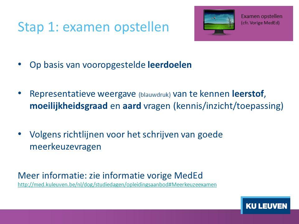 Stap 3: Scannen Naamsestraat 98 (Rectorshuis): op afspraak (±1u) http://www.kuleuven.be/duo/dienst/hoetebereiken.html http://www.kuleuven.be/duo/dienst/hoetebereiken.html Bij fouten studenten  manuele correctie Steeds onder begeleiding van medewerker centrale diensten (Mevr.