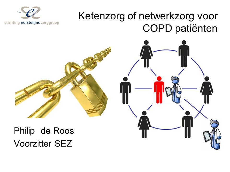 Ketenzorg of netwerkzorg voor COPD patiënten Philip de Roos Voorzitter SEZ