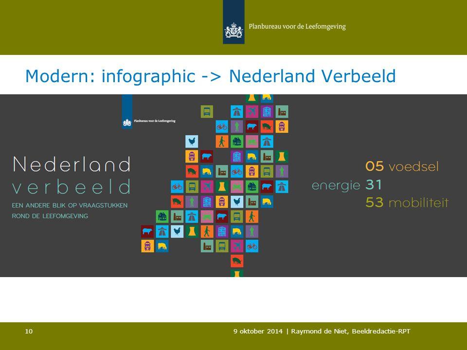 Modern: infographic -> Nederland Verbeeld 9 oktober 2014 | Raymond de Niet, Beeldredactie-RPT 10