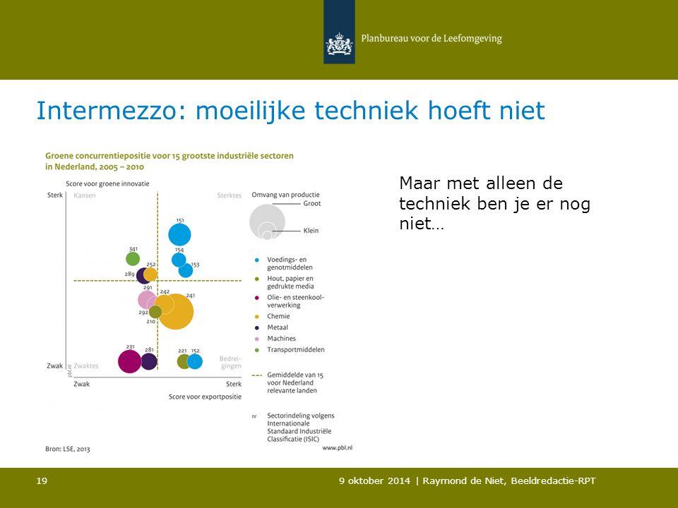 Intermezzo: moeilijke techniek hoeft niet 9 oktober 2014 | Raymond de Niet, Beeldredactie-RPT 19 Maar met alleen de techniek ben je er nog niet…