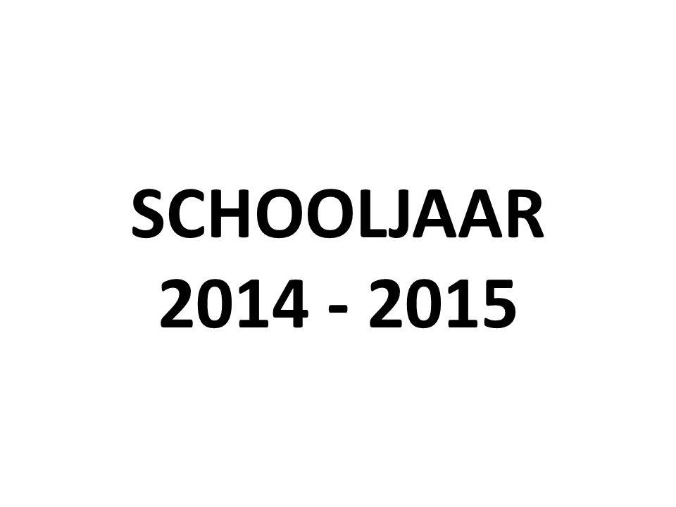 SCHOOLJAAR 2014 - 2015