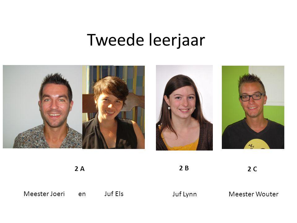 Tweede leerjaar Meester Joeri en Juf Els Juf Lynn Meester Wouter 2 A 2 B 2 C