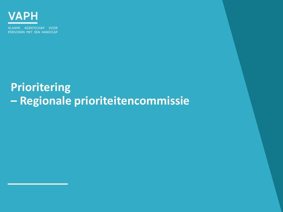 Prioritering – Regionale prioriteitencommissie