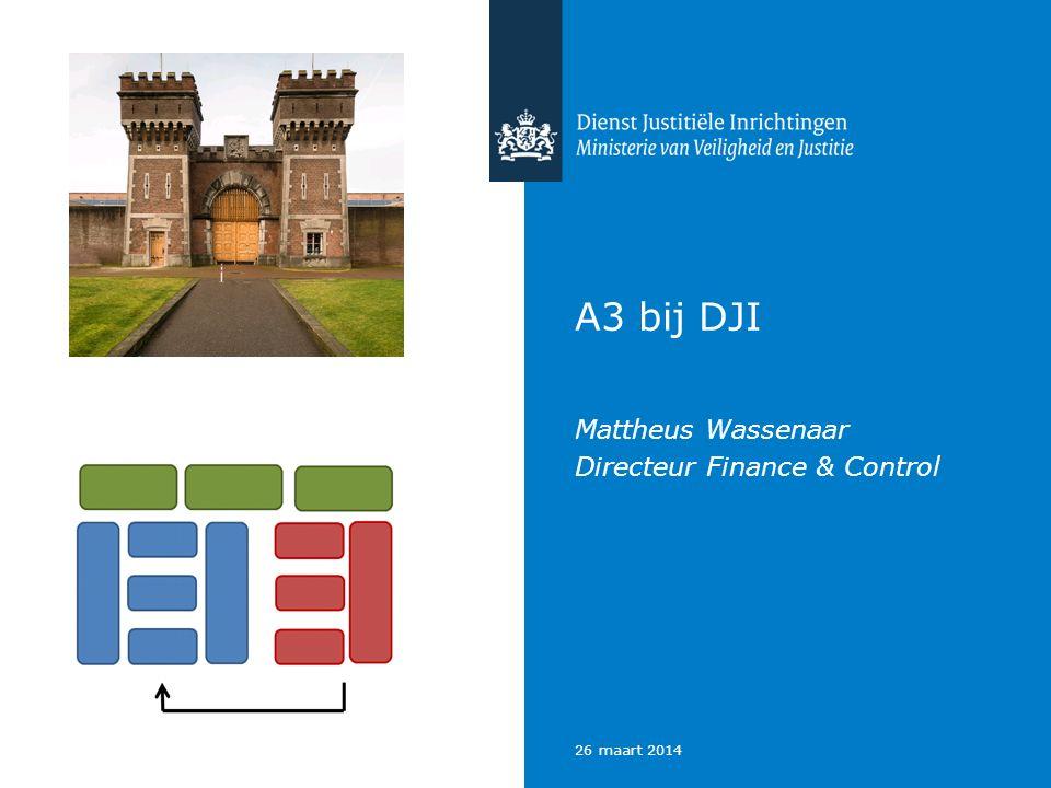 A3 bij DJI Mattheus Wassenaar Directeur Finance & Control 26 maart 2014
