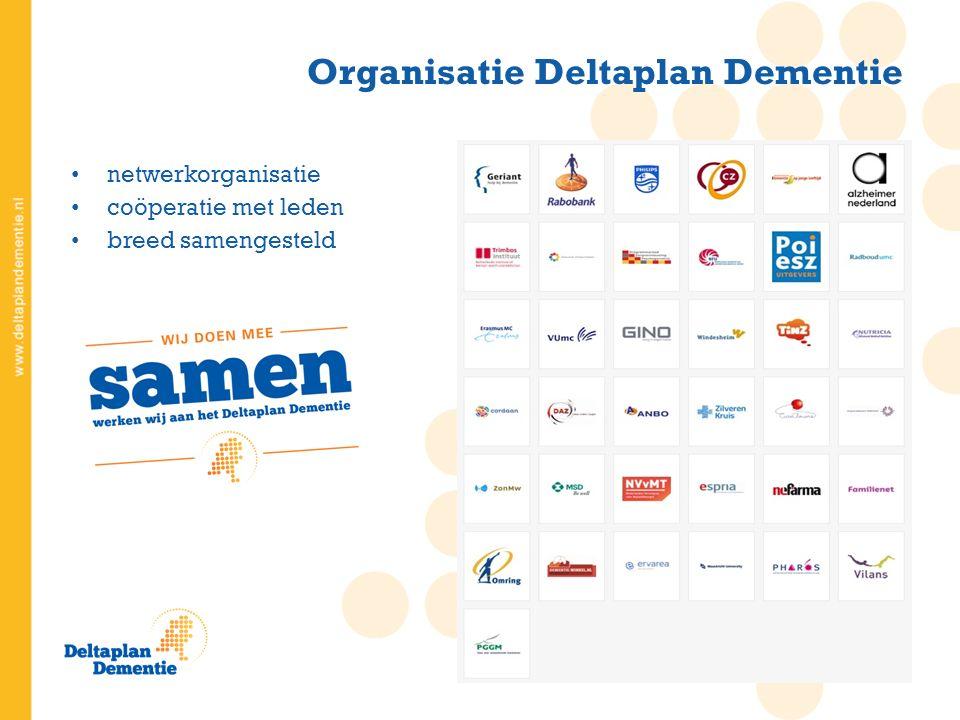 netwerkorganisatie coöperatie met leden breed samengesteld Organisatie Deltaplan Dementie