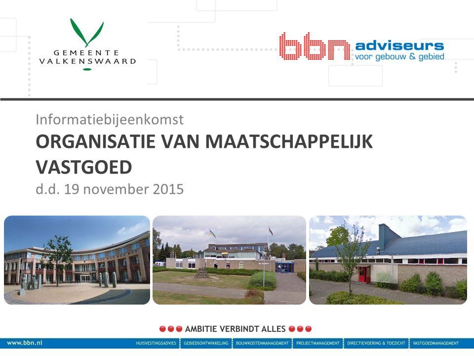 Informatiebijeenkomst ORGANISATIE VAN MAATSCHAPPELIJK VASTGOED d.d. 19 november 2015
