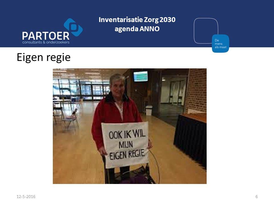 Inventarisatie Zorg 2030 agenda ANNO Eigen regie 12-5-20166