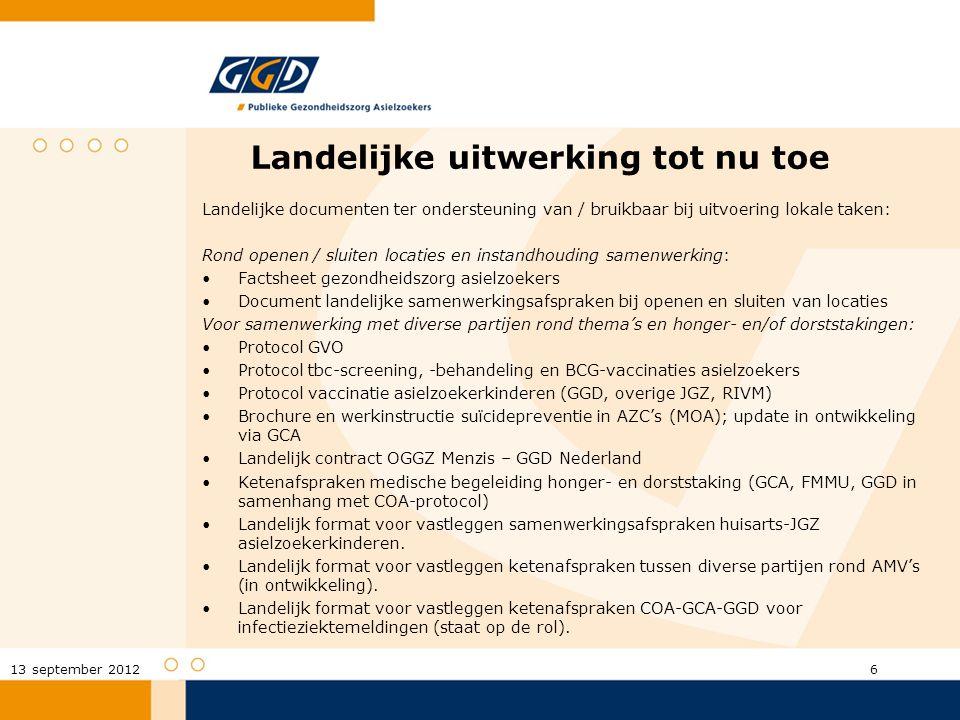 Rond thema's binnen de GGD Werkdocument Routing JGZ-dossiers en overdrachtsformulier.