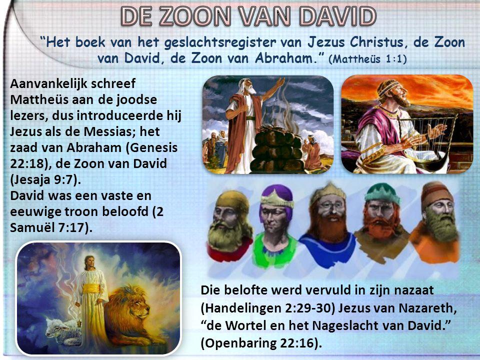 Juda verwekte Perez en Zerah bij Tamar … Salmon verwekte Boaz bij Rachab, Boaz verwekte Obed bij Ruth … David, de koning, verwekte Salomo bij haar die de vrouw van Uria was. (Mattheüs 1:3, 5-6) Vrouwen worden niet genoemd in oude geslachtsregisters.