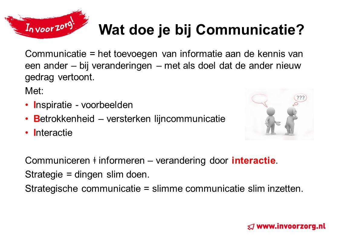 Wat doe je bij Communicatie.