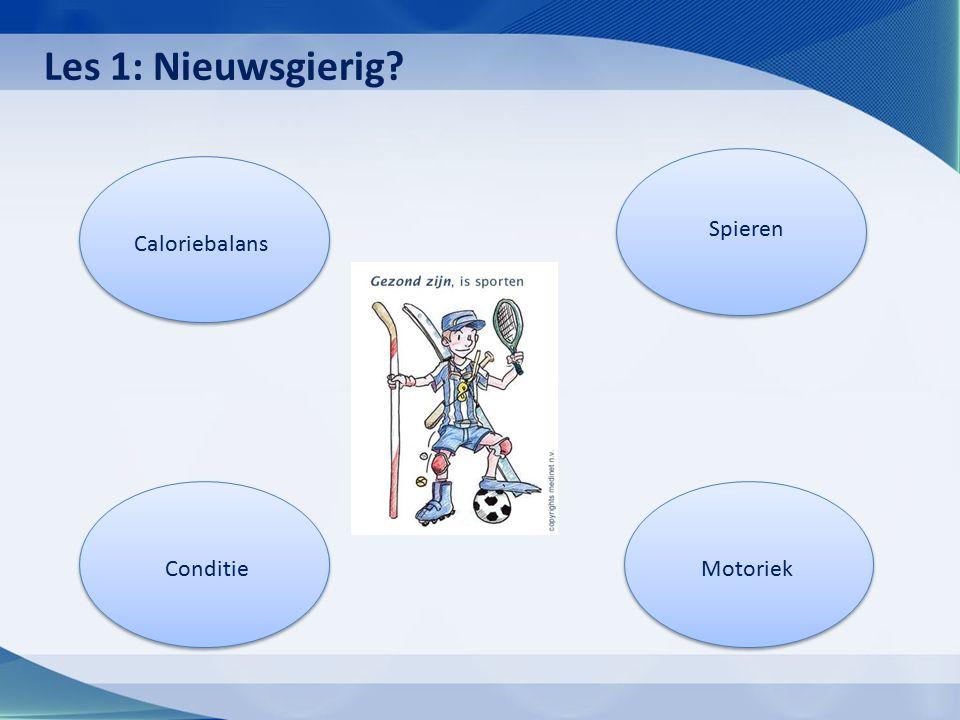 Caloriebalans Conditie Spieren Motoriek Les 1: Nieuwsgierig?