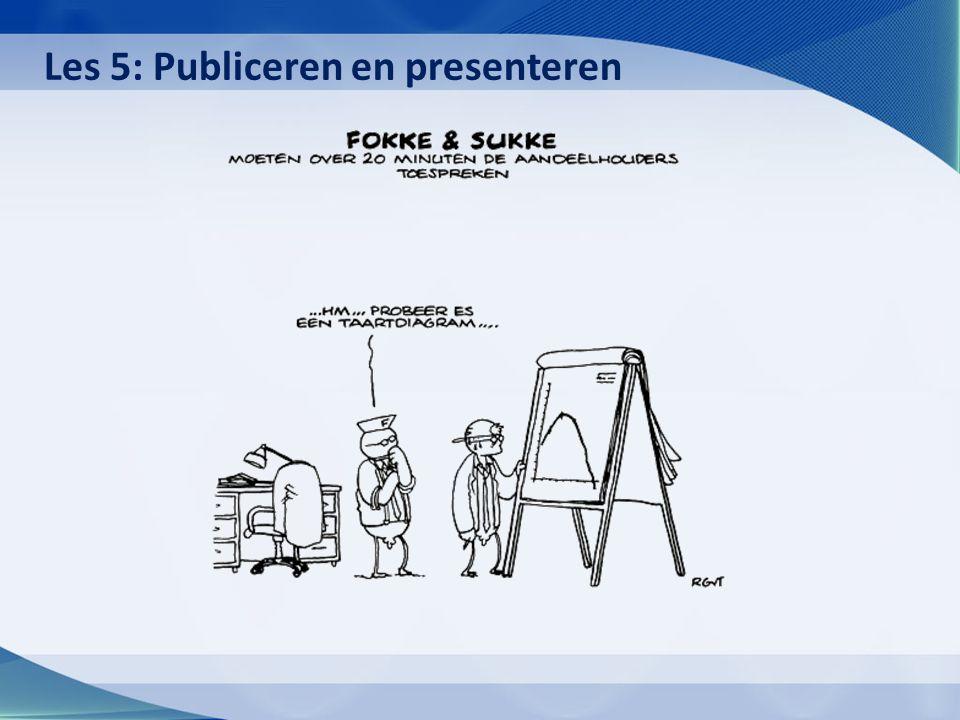 Les 5: Publiceren en presenteren